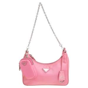 Prada Pink Nylon Re-Edition 2005 Shoulder Bag