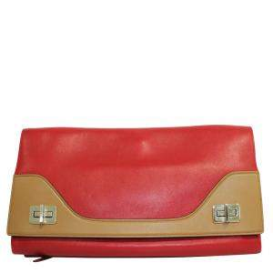 Prada Red Vitello Leather Shoulder Bag