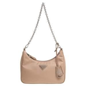 Prada Beige Nylon Re-Edition 2005 Shoulder Bag