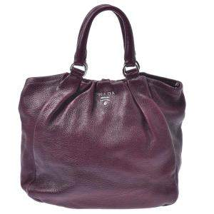 Prada Burgundy Leather Satchel