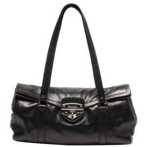 Prada Black Soft Calf Leather Easy Bag