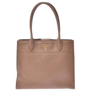 Prada Beige Calf Leather Tote