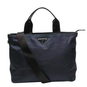 Prada Navy Blue Nylon Tote Bag
