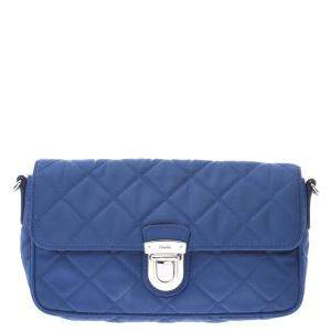 Prada Blue Nylon Shoulder Bag