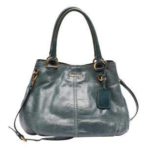 Prada Grey Leather Tote