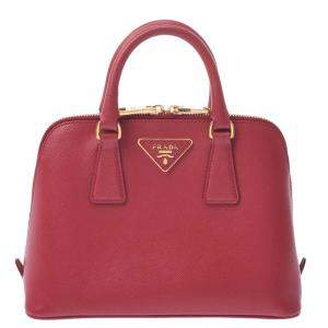 Prada Red Leather Small Promenade Satchel