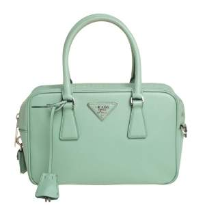 Prada Mint Green Leather Camera Crossbody Bag