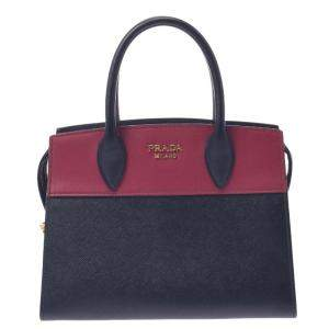 Prada Black Leather Cuir Tote