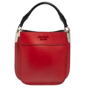 Prada Red Leather Crossbody Bag