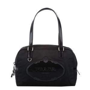 Prada Black Tessuto Canapa Bag