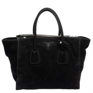 حقيبة برادا سويدي أسود بجيبين