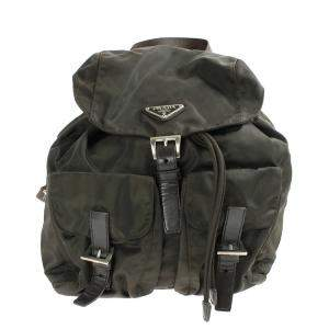 Prada Brown Nylon Tessuto Backpack