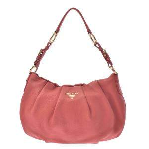 Prada Pink Leather Hobo