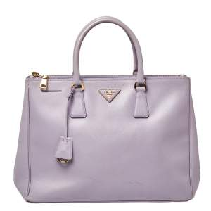 Prada Lavender Saffiano Lux Leather Large Galleria Tote