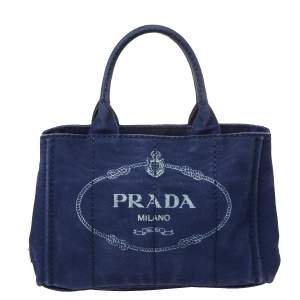 Prada Blue Denim 2way Tote