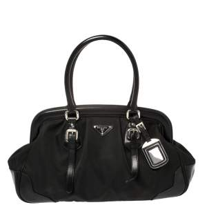 Prada Black Leather and Nylon Doctor Satchel