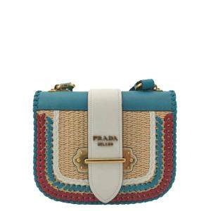 Prada Blue Leather Shoulder Bag