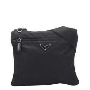 Prada Black Fabric Nylon Tessuto Shoulder Bag