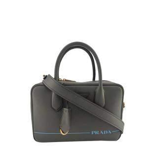 Prada Grey Leather Mirage Medium Bag