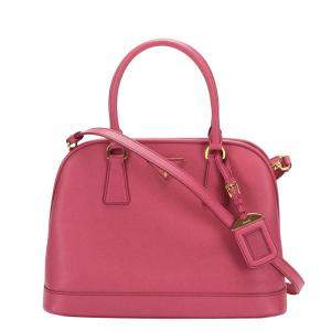 Prada Pink Leather Promenade Satchel Bag