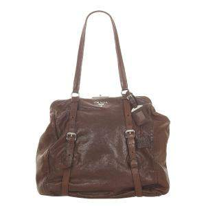 Prada Brown New Look Leather Tote Bag