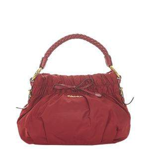 Prada Red Nylon Tessuto Shoulder Bag