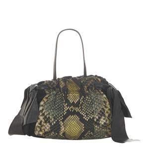 Prada Multicolor Tessuto Python Print Shoulder Bag