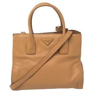 Prada Brown Leather Vitello Daino Tote