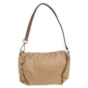 Prada Beige Tessuto Nylon Clutch Bag