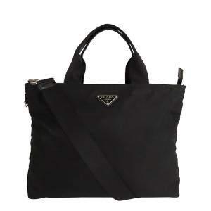 Prada Black Nylon Tessuto Satchel Bag