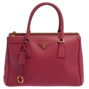 """حقيبة يد برادا """"غاليريا"""" صغيرة  جلد سافيانو لوكس وردي"""