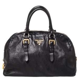 حقيبة ساتشل برادا دوم جلد أسود