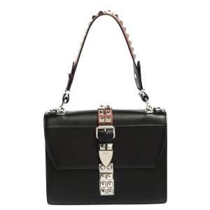 Prada Red/black Leather Elektra Shoulder Bag