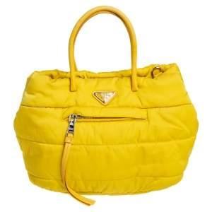 حقيبة يد توتس برادا بومبر نايلون تيسوتو أصفر