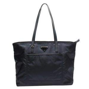 Prada Navy Blue Nylon Vela Shoulder Bag
