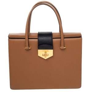 حقيبة ساتشل برادا جلد سافيانو لوكس ثلاثية اللون