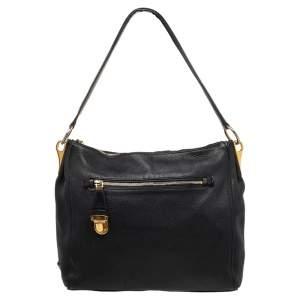 حقيبة يد توتس برادا جلد أسود بسلسلة