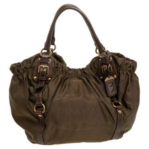 Prada Fatigue Green Nylon Shoulder Bag