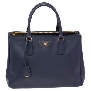 Prada Navy Blue Saffiano Lux Leather Medium Galleria Tote