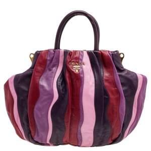 Prada Multicolor Leather Waves Shoulder Bag