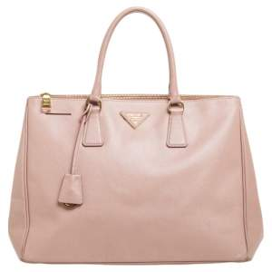 Prada Dusty Pink Saffiano Lux Leather Large Galleria Tote