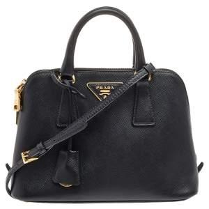 Prada Black Saffiano Leather Small Promenade Crossbody Bag