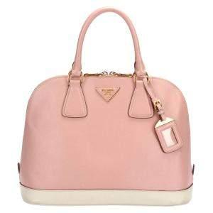 Prada Pink Leather Promenade Dome Satchel Bag