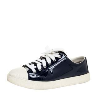 Prada Sport Blue Patent Leather Sneakers Size 37
