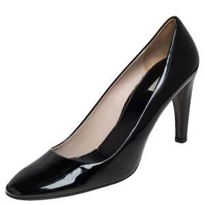 Prada Black Patent Leather Pumps Size 38.5