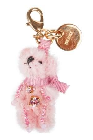 Prada Pink Furry Bear Embellished Charm