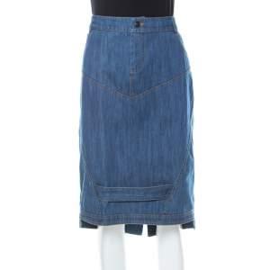 Preen Line Blue Patch Denim Pencil Skirt L