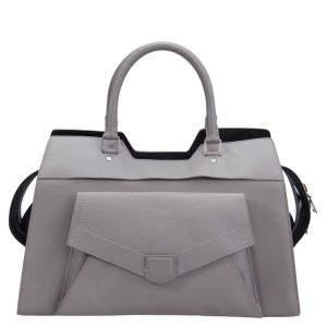 Proenza Schouler Grey Leather Small PS13 Satchel