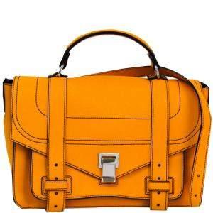 Proenza Schouler Yellow Leather PS1 Medium Satchel Bag