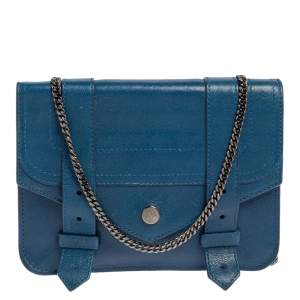 Proenza Schouler Blue Leather PS1 Crossbody Bag